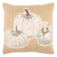 Rizzy Home Pumpkins Jute Blend Throw Pillow