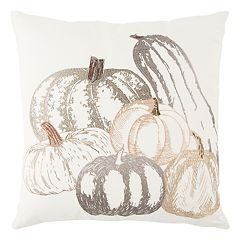 Rizzy Home Fall Pumpkins Throw Pillow