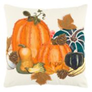 Rizzy Home Vibrant Pumpkins Throw Pillow