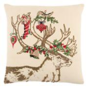 Rizzy Home Christmas Ornament Deer II Throw Pillow