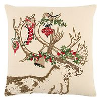 Rizzy Home Christmas Ornament Deer II Throw Pillow