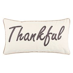 Rizzy Home 'Thankful' Oblong Throw Pillow