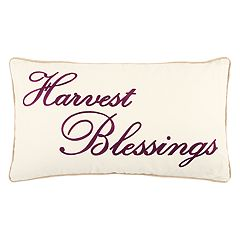 Rizzy Home 'Harvest Blessings' Oblong Throw Pillow