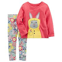 Toddler Girl Carter's Rain Bunny Top & Legging Set