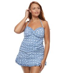 Plus Size Apt. 9® Lace Hem Swimdress