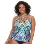 Plus Size Apt. 9® High Neck Tankini Top