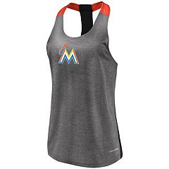 Women's Majestic Miami Marlins Racerback Tank Top
