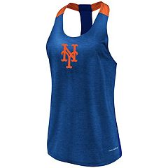 Women's Majestic New York Mets Racerback Tank Top