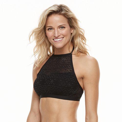 Women's Apt. 9® Crochet High-Neck Bikini Top