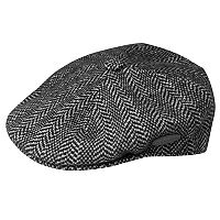 Men's Kangol 504 Wool-Blend Herringbone Flat Ivy Cap