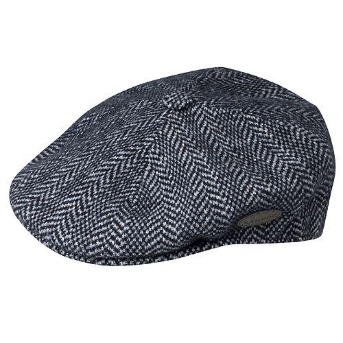 Men's Kangol 504 Wool-Blend Herringbone Flat Ivy Cap