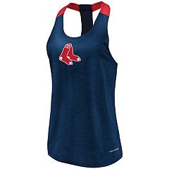 Women's Majestic Boston Red Sox Racerback Tank Top
