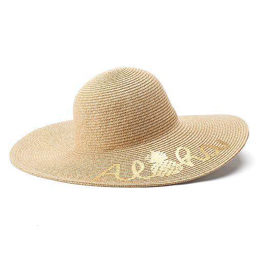 """Women's SONOMA Goods for Life™ Pineapple """"Aloha"""" Floppy Hat"""