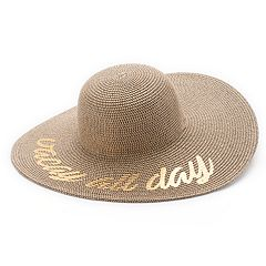 Women's SONOMA Goods for Life™ Woven 'Vacay All Day' Floppy Hat