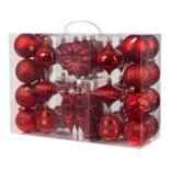Gerson Garland & Shatterproof Christmas Ornament 38-piece Set