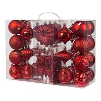Gerson Garland & Shatterproof Christmas Ornament 38-piece Set