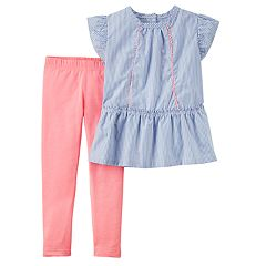 Toddler Girl Carter's Striped Tunic Top & Leggings Set