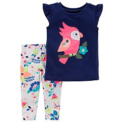 Toddler Girl Carter's Toucan Tee & Floral Leggings Set