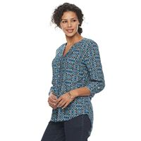 Women's Croft & Barrow® Plaid Pintuck Shirt