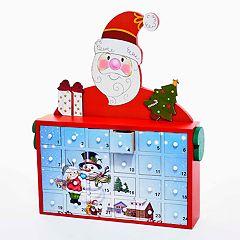 Kurt Adler Santa Advent Calendar Christmas Table Decor