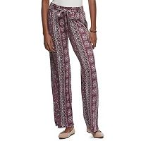Juniors' Joe B Print Soft Pants