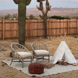 Fab Habitat Chanler Kilim Geometric PET Indoor Outdoor Rug