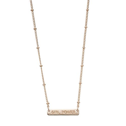 "LC Lauren Conrad ""Girl Power"" Bar Necklace"