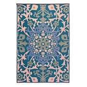 Fab Habitat Samarkand Floral Recycled Indoor Outdoor Rug