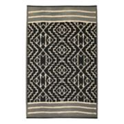 Fab Habitat Kiliminjaro Geometric Recycled Indoor Outdoor Rug