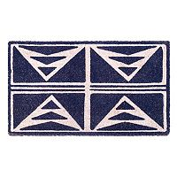 Fab Habitat Abstract Tribal Geometric Coir Doormat - 18'' x 30''