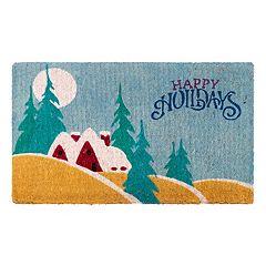 Fab Habitat Festive ''Happy Holidays'' Coir Doormat - 18'' x 30''