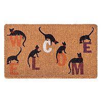 Fab Habitat Inquisitive Cat ''Welcome'' Coir Doormat - 18'' x 30''