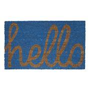 Fab Habitat Cursive ''Hello'' Coir Doormat - 18'' x 30''
