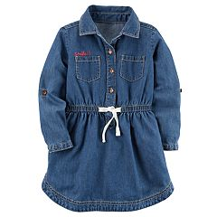 Toddler Girl Carter's Denim Shirt Dress