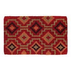 Fab Habitat Lhasa Kilim Geometric Coir Doormat