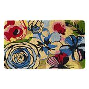 Fab Habitat Watercolor Floral Coir Doormat