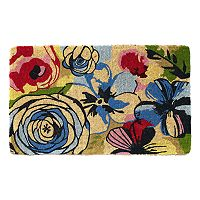 Fab Habitat Watercolor Floral Coir Doormat