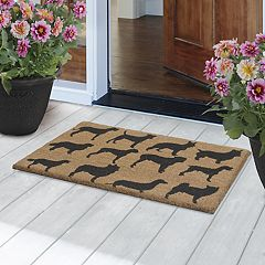 Fab Habitat Ruff Party Dogs Coir Doormat - 18'' x 30''