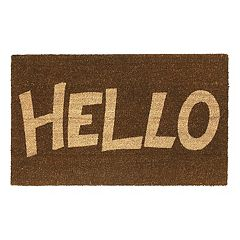 Fab Habitat Block Letter ''Hello'' Coir Doormat - 18'' x 30''