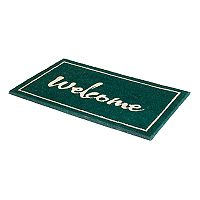 Fab Habitat Painted ''Welcome'' Coir Doormat - 18'' x 30''