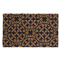Fab Habitat Blue Tile Coir Doormat - 18'' x 30''
