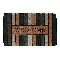 Fab Habitat Stenciled ''Welcome'' Coir Doormat - 18'' x 30''