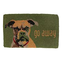 Fab Habitat ''Go Away'' Dog Coir Doormat - 18'' x 30''