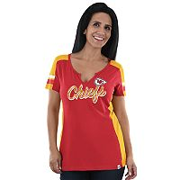 Plus Size Majestic Kansas City Chiefs Notched Tee