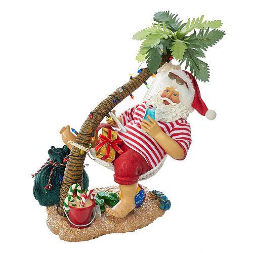 Kurt Adler Beach Santa Christmas Table Decor