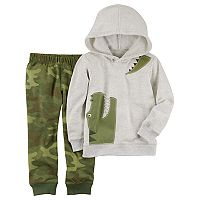 Toddler Boy Carter's 2 pc Alligator Hoodie & Camo Jogger Pants Set