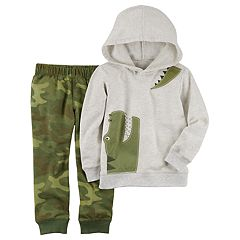 Toddler Boy Carter's 2-pc. Alligator Hoodie & Camo Jogger Pants Set