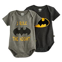 Baby Boy 2-pk. DC Comics 'I Rule The Night' Logo Bodysuit Set