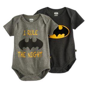 "Baby Boy 2-pk. DC Comics ""I Rule The Night"" Logo Bodysuit Set"