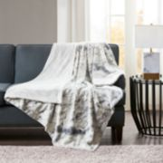 Madison Park Sachi Oversized Faux Fur Throw